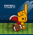 american football superbowl vector image