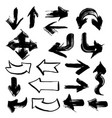 arrows in different directions painted with thick vector image