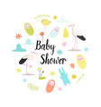 baby shower celebration invitation card vector image vector image