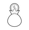 bank bag of money coin dollar cash vector image vector image