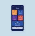 batracking smartphone interface template vector image vector image