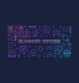 blogger review colored concept linear vector image