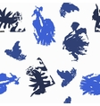 Blots in Blue Shades on White Background vector image vector image