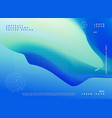 blue color gradient background poster design vector image