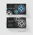 Business card abstract gear background vector image vector image