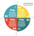 Business circle infographic diagram presentation vector image vector image