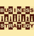 business strategy banner in wooden inlay design vector image vector image