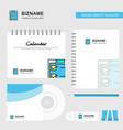 checklist logo calendar template cd cover diary vector image vector image