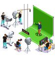 cinematograph isometric composition vector image vector image