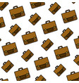 color business briefcase object style background vector image