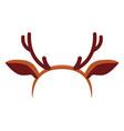 colorful cartoon reindeer antler hat vector image