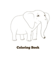 Coloring book elephant african animal cartoon vector image vector image