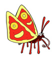 comic cartoon funny butterfly vector image vector image