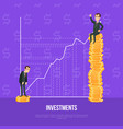 concept of finance investment with businessman vector image