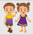 cute children on transparent background vector image vector image
