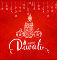 elegant card design of traditional indian festival vector image