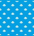 emblem burger pattern seamless blue vector image vector image