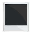 Empty photo frames on white background vector image vector image