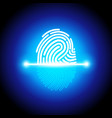 finger print scanning identification system vector image