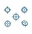 focus logo template icon vector image vector image