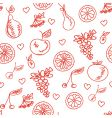 fruit sketchy healthy seamless pattern vector image vector image