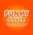 funny font for children glossy alphabet vector image