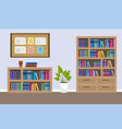 furniture room cartoon vector image