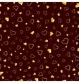 Golden hearts seamless pattern valentines texture vector image