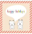 Happy holidays25 vector image vector image