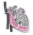 heart with lyrics soviet song ever higher vector image vector image