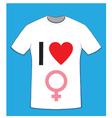 I love women t-shirt vector image vector image
