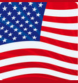 icon amercan flag with waves vector image