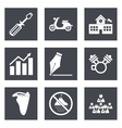 Icons for Web Design set 12 vector image vector image