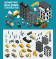 isometric building create your own design vector image vector image