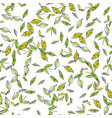 leaves leaf fall seamless floral pattern vector image vector image