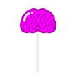 lollipop brain human brains sweet unusual vector image vector image