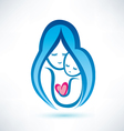 mother and child symbol love concept vector image