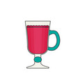 mulled wine flat icon vector image