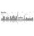 outline berlin germany city skyline vector image vector image