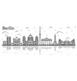 outline berlin germany city skyline with vector image vector image