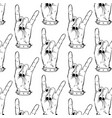 pattern with hand drawn rock hand with vector image vector image