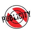 publicity rubber stamp vector image vector image