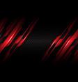 red circuit metallic dark grey red circle mesh vector image vector image