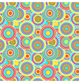 Red yellow and blue circles seamless pattern vector image vector image