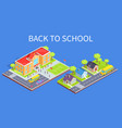 school area 3d and road to home vector image vector image