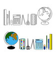 school subjects for the pupil of primary classes vector image vector image