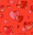 seamless hearts pattern background valentines day vector image vector image