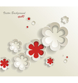 seamless pattern of flower stickers background vector image vector image