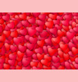seamless realistic hearts background love vector image vector image