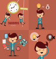 Set of businessman icons business cartoon vector image